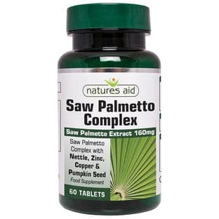 Natures Aid Saw Palmetto Complex for Men 60 Tablets
